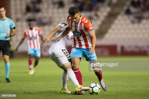 Luis Ruiz during the La Liga second league match between Albacete Balompié and Club deportivo Lugo at Carlos Belmonte stadium on September 10 2017 in...