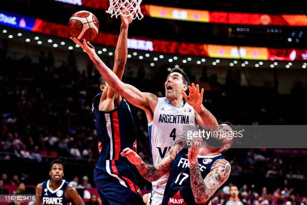 Luis Scola of Argentina shoots during the semi final march between Argentina and France of 2019 FIBA World Cup at the Cadillac Arena on September 13,...