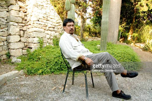 Luis Sepulveda Chilean writer novelist portrait Orbetello Italy 2005