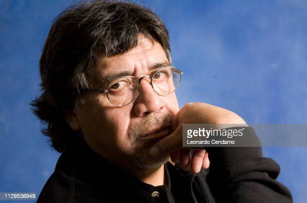 Luis Sepulveda Chilean writer portrait Suzzara Italy 12th November 2008