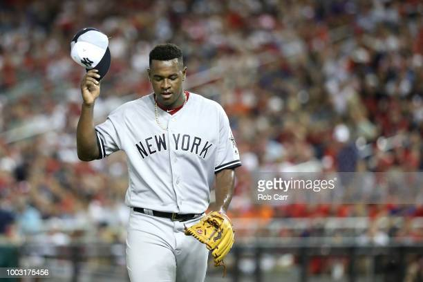 Luis Severino of the New York Yankees during the 89th MLB AllStar Game presented by Mastercard at Nationals Park on July 17 2018 in Washington DC