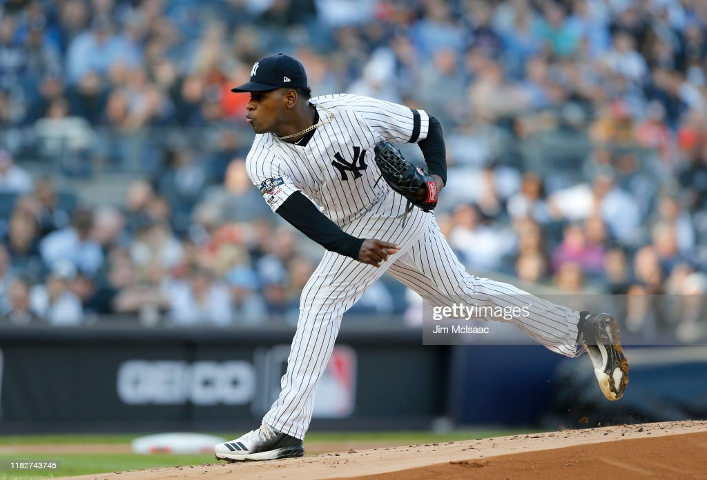 League Championship Series - Houston Astros v New York Yankees - Game Three : News Photo