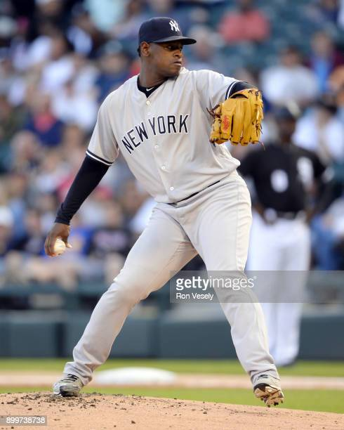 Luis Severino of the New York Yankees pitches against the Chicago White Sox on June 27 2017 at Guaranteed Rate Field in Chicago Illinois