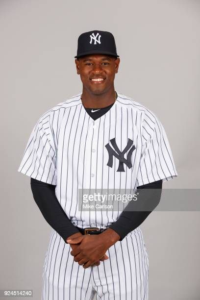 Luis Severino of the New York Yankees poses during Photo Day on Wednesday February 21 2018 at George M Steinbrenner Field in Tampa Florida
