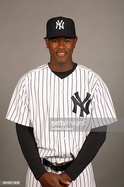 Luis Severino of the New York Yankees poses during Photo Day on Friday February 27 2015 at George M Steinbrenner Field in Tampa Florida