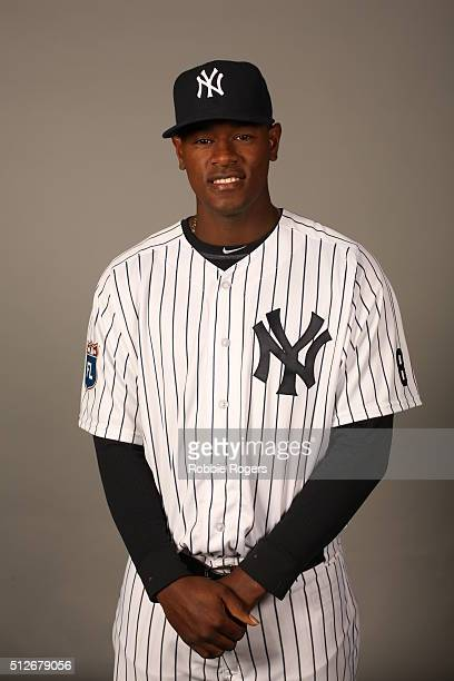 Luis Severino of the New York Yankees poses during Photo Day on Saturday February 27 2016 at George M Steinbrenner Field in Tampa Florida