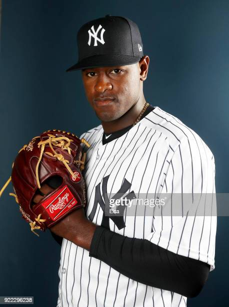Luis Severino of the New York Yankees poses for a portrait during the New York Yankees photo day on February 21 2018 at George M Steinbrenner Field...