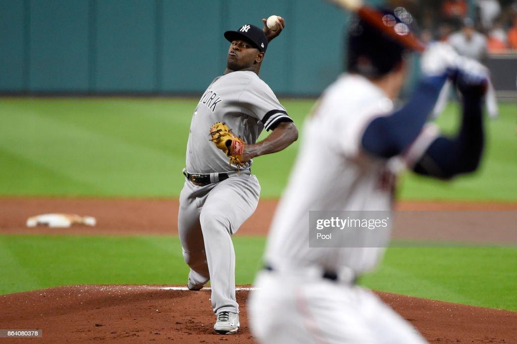 League Championship Series - New York Yankees v Houston Astros - Game Six : News Photo
