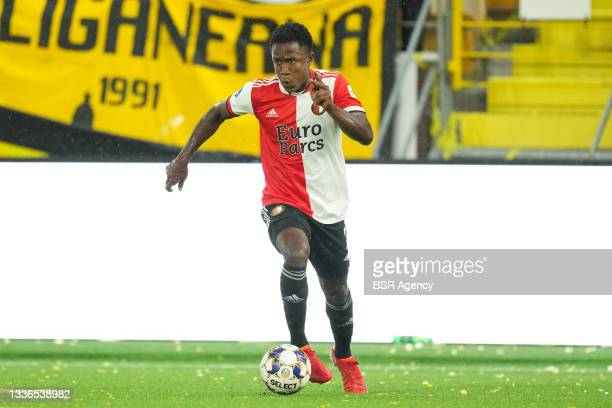 Luis Sinisterra of Feyenoord during the UEFA Conference League match between IF Elfsborg and Feyenoord at Boras Arena on August 26, 2021 in Boras,...