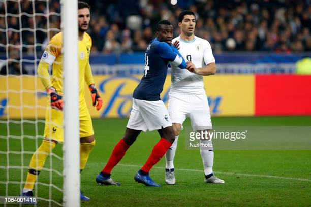 Luis Suarez and Blaise Matuidi during the friendly football match France vs Uruguay on November 20 2018 at the Stade de France in SaintDenis outside...