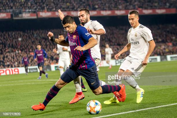 Luis Suarez during the Copa del Rey match between FC Barcelona and Real Madrid at Camp Nou Stadium in Barcelona Catalonia Spain on February 6 2019