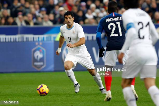 Luis Suarez during the friendly football match France vs Uruguay on November 20 2018 at the Stade de France in SaintDenis outside Paris France