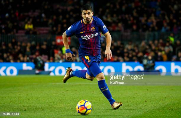 Luis Suarez during the La Liga match between FC Barcelona v Real Club Deportivo de La Coruna in Barcelona on December 17 2017