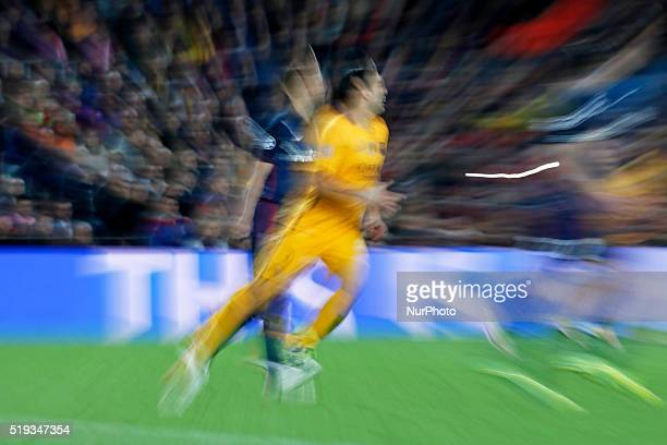 Luis Suarez during the match between FC Barcelona and Atletico de Madrid corrresponding to the first leg of the 1/4 final of the UEFA Champions...