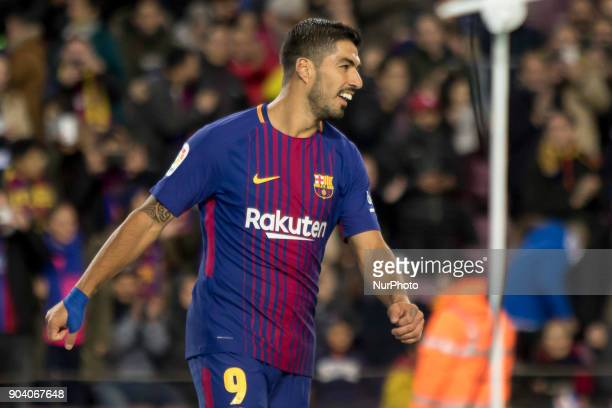 Luis Suarez during the spanish Copa del Rey match between FC Barcelona and Celta de Vigo at the Camp Nou Stadium in Barcelona Catalonia Spain on...