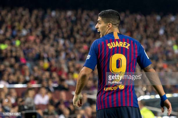 Luis Suarez during the spanish league La Liga match between FC Barcelona and Sevilla FC at Camp Nou Stadium in Barcelona Catalonia Spain on October...