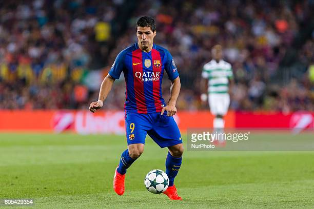 Luis Suarez during the UEFA Champions League match corresponding to group stage match between FC Barcelona Celtic FC played at Camp Nou on 13th Sep...