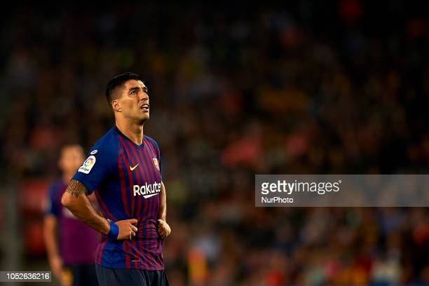 Luis Suarez during the week 9 of La Liga match between FC Barcelona and Sevilla FC at Camp Nou Stadium in Barcelona Spain on October 20 2018