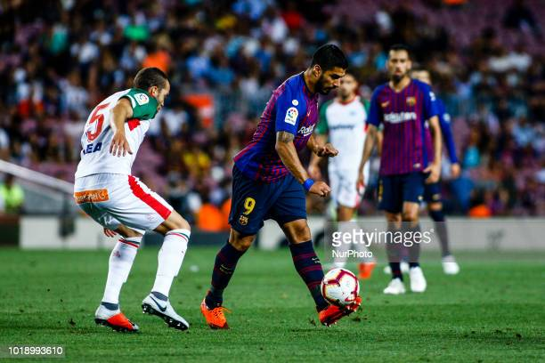 Luis Suarez from Uruguay during the La Liga game between FC Barcelona against Deportivo Alaves in Camp Nou Stadium at Barcelona on 18 of August of...