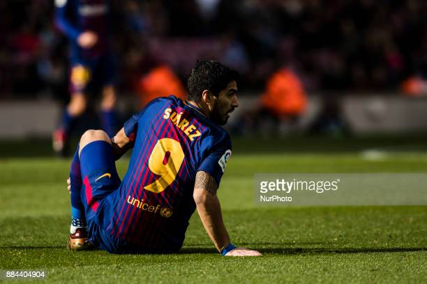 Luis Suarez from Uruguay of FC Barcelona during the La Liga match between FC Barcelona v Celta de Vigo at Camp Nou Stadium on December 2 2017 in...