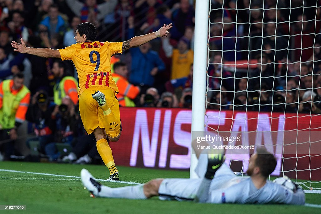 FC Barcelona v Club Atletico de Madrid  - UEFA Champions League Quarter Final: First Leg : News Photo