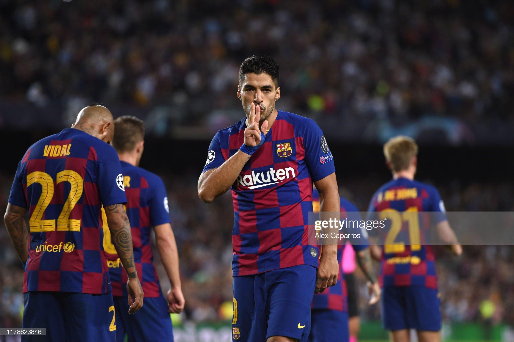 صور مباراة : برشلونة - إنتر 2-1 ( 02-10-2019 )  Luis-suarez-of-fc-barcelona-celebrates-after-he-scores-his-sides-picture-id1178623846?s=2048x2048