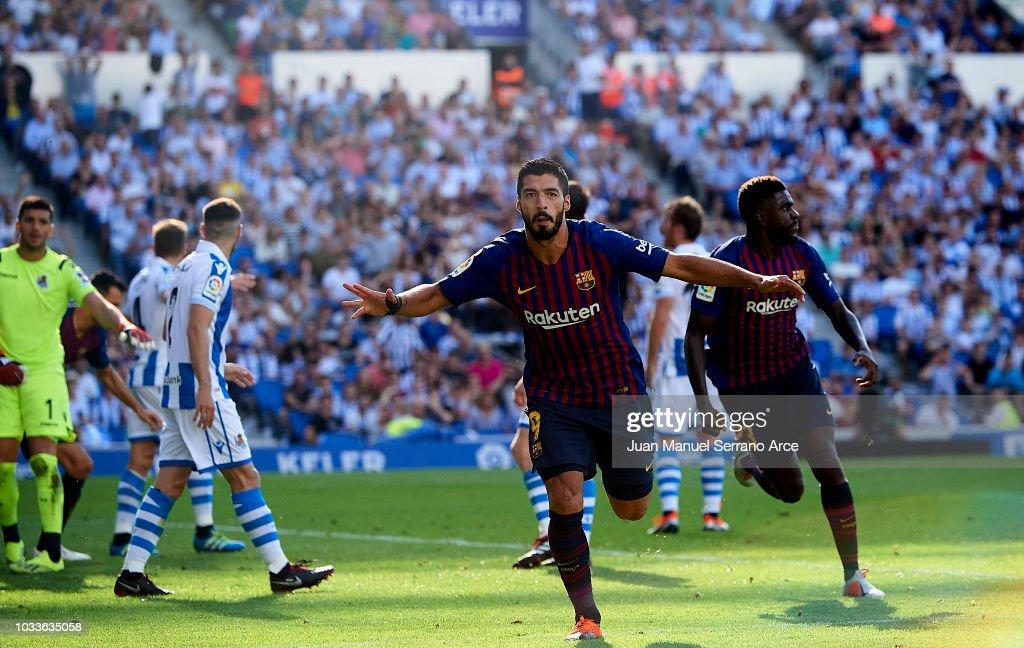 Real Sociedad v FC Barcelona - La Liga : ニュース写真