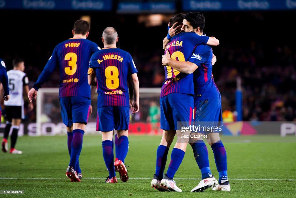 Barcelona v Valencia - Copa Del Rey : ニュース写真