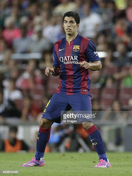 Luis Suarez of FC Barcelona during the Joan Gamper Trophy match between FC Barcelona and Leon FC at Camp Nou on august 18 2014 in Barcelona Spain