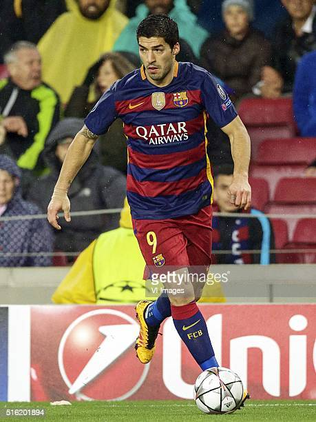 Luis Suarez of FC Barcelona during the UEFA Champions League round of 16 match between FC Barcelona and Arsenal on March 16 2015 at the CampNou...
