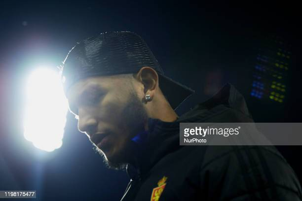 Luis Suarez of Real Zaragoza prior to the Copa del Rey round of 16 match between Real Zaragoza and Real Madrid at La Romareda on January 29, 2020 in...