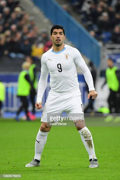 Luis Suarez of Uruguay during the International Friendly match between France and Uruguay at Stade de France on November 20 2018 in Paris France