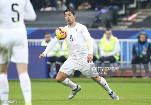 Luis Suarez of Uruguay during the international friendly match between France and Uruguay at Stade de France on November 20 2018 in SaintDenis near...