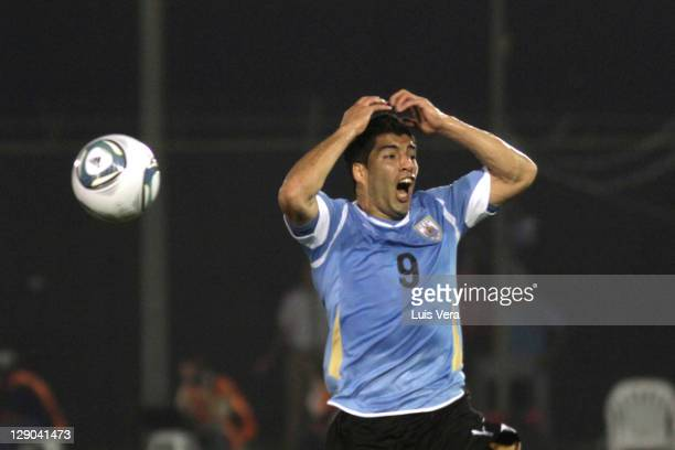 Luis Suarez of Uruguay in action during as part of the first round of the South American Qualifiers for World Cup Brazil 2014 at Defensores del Chaco...
