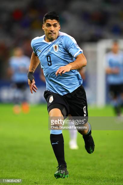Luis Suarez of Uruguay in action during the Copa America Brazil 2019 group C match between Uruguay and Ecuador at Mineirao Stadium on June 16 2019 in...