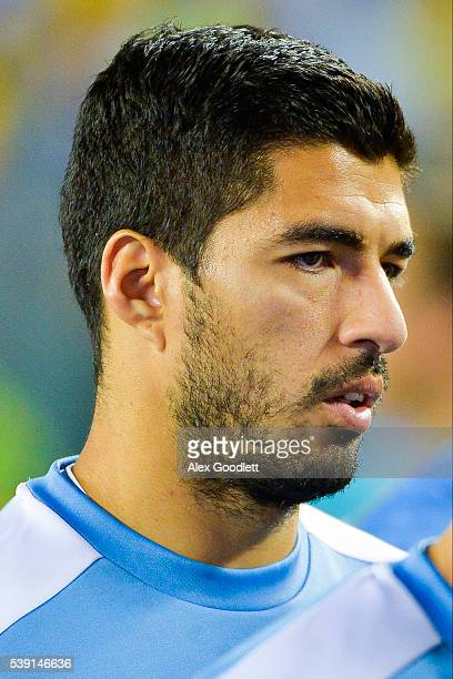 Luis Suarez of Uruguay looks on after a group C match between Uruguay and Venezuela at Lincoln Financial Field as part of Copa America Centenario US...