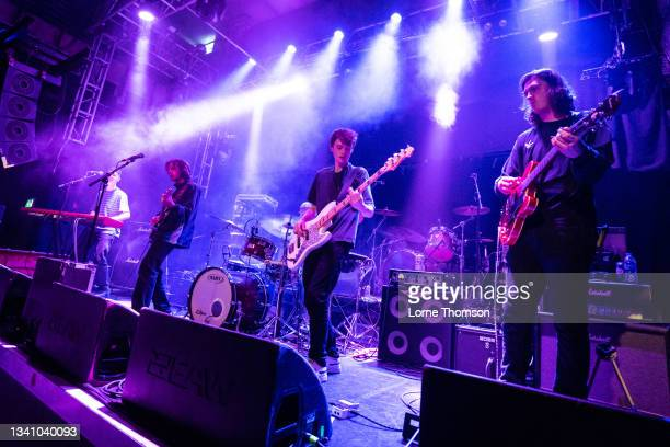Luis Sullivan, Drew Selby, Ollie Appleby and Euan Mail of Rosellas perform at O2 Academy Islington on September 17, 2021 in London, England.