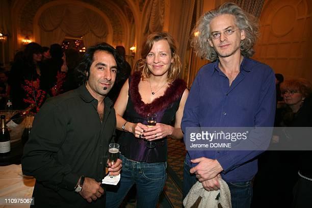 Luis Talavera his wife and Santiago Amigorena in Evian France on December 08th 2007