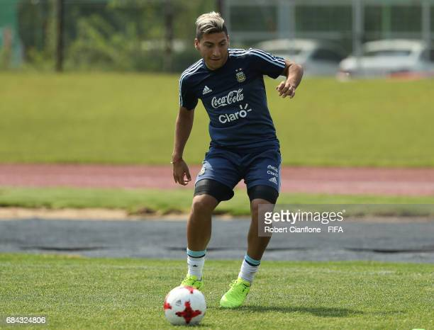 Luis Torres of Argentina during an Argentina training session at the Jeonju World Cup Stadium Auxiliary Field ahead of the FIFA U20 World Cup on May...