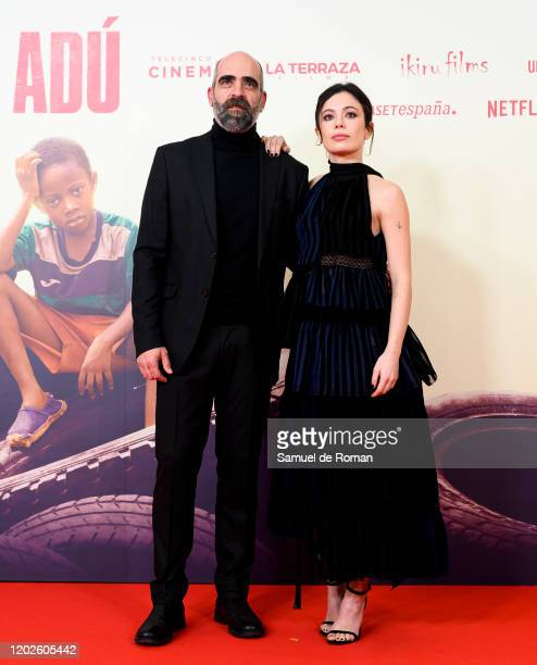 Luis Tosar and Anna Castillo attend Adu Madrid Premiere on January 28 2020 in Madrid Spain