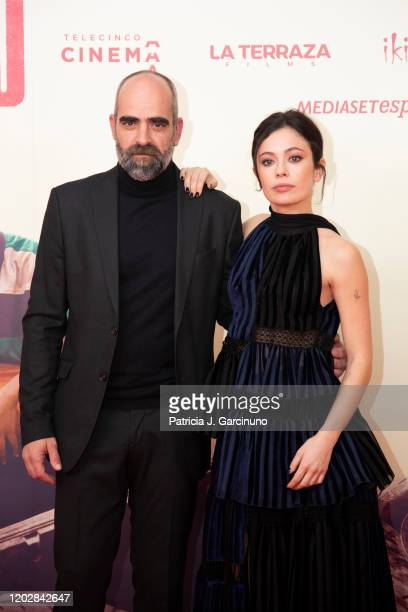 Luis Tosar and Anna Castillo attend 'Adu' premiere at Callao Cinema on January 28 2020 in Madrid Spain