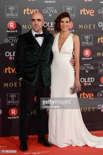 Luis Tosar and guest attend Goya Cinema Awards 2018 at Madrid Marriott Auditorium on February 3 2018 in Madrid Spain