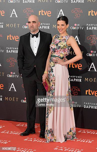 Luis Tosar and guest attends Goya Cinema Awards 2016 at Madrid Marriott Auditorium on February 6 2016 in Madrid Spain