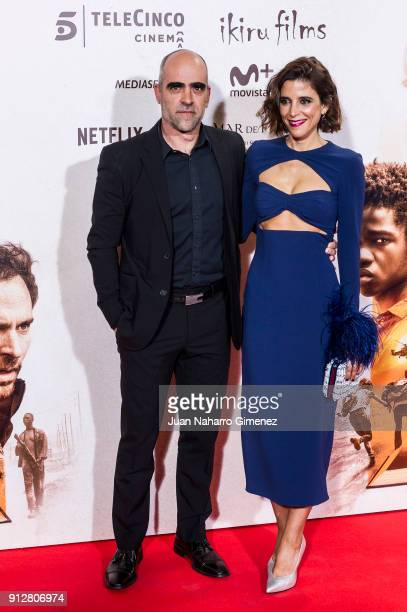 Luis Tosar and Maria Luisa Mayol attend 'El Cuaderno De Sara' premiere at the Capitol cinema on January 31 2018 in Madrid Spain