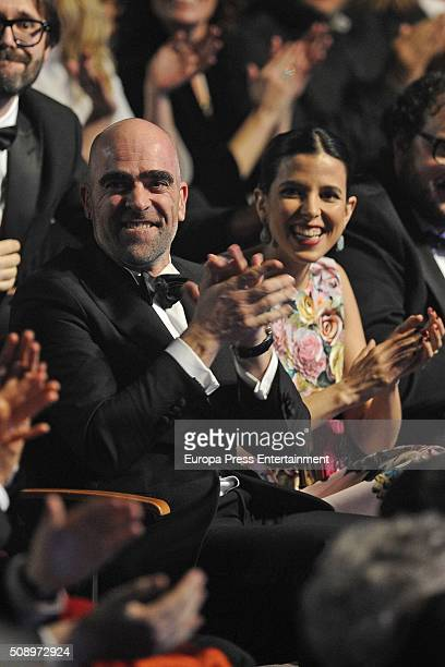 Luis Tosar and Maria Luisa Mayol attend Goya Cinema Awards 2016 at Madrid Marriott Aud