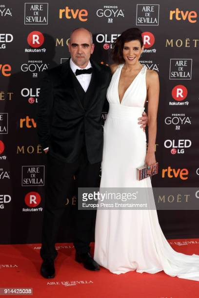 Luis Tosar and Maria Luisa Mayol attend Goya Cinema Awards 2018 at Madrid Marriott Auditorium on February 3 2018 in Madrid Spain