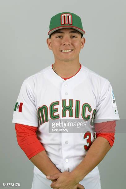 Luis Urias of Team Mexico poses for a headshot for Pool D of the 2017 World Baseball Classic on Monday March 6 2017 at the Peoria Sports Complex in...