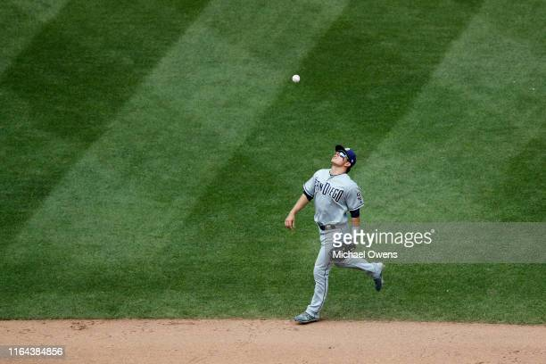 Luis Urias of the San Diego Padres during a game against the New York Mets at Citi Field on July 25 2019 in New York City