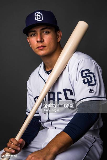 Luis Urias of the San Diego Padres poses for a portrait at the Peoria Sports Complex on February 19 2017 in Peoria Arizona