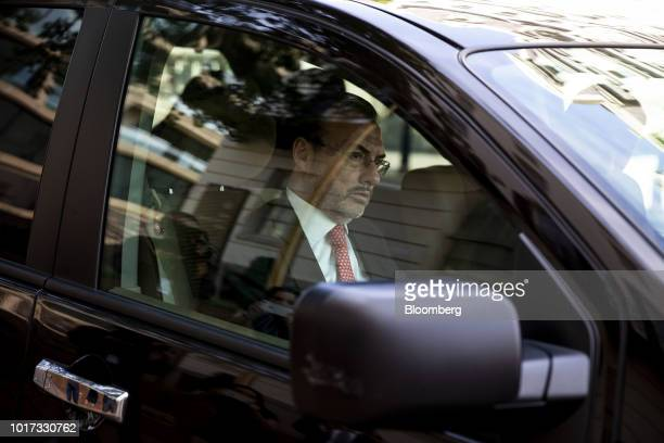 Luis Videgaray Mexico's foreign minister arrives for a meeting at the office of the US Trade Representative in Washington DC US on Wednesday Aug 15...